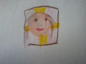 Kamilla igazolványképe, amit Viola készített